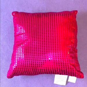 Pink Sequins Throw Pillow